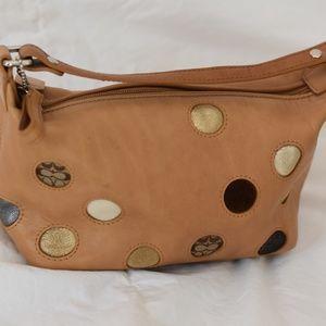 Coach leather dots bag